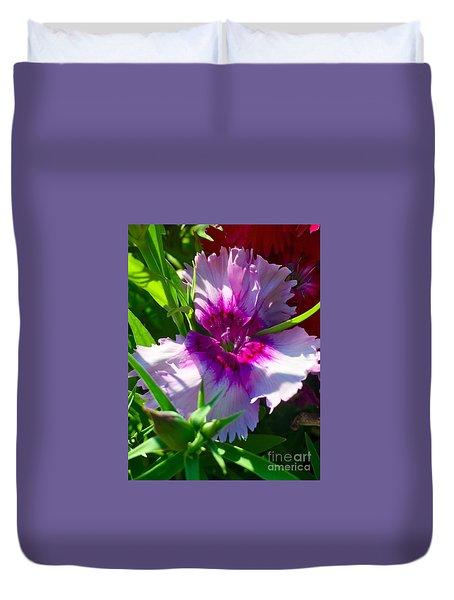 Dianthus Carnation Duvet Cover