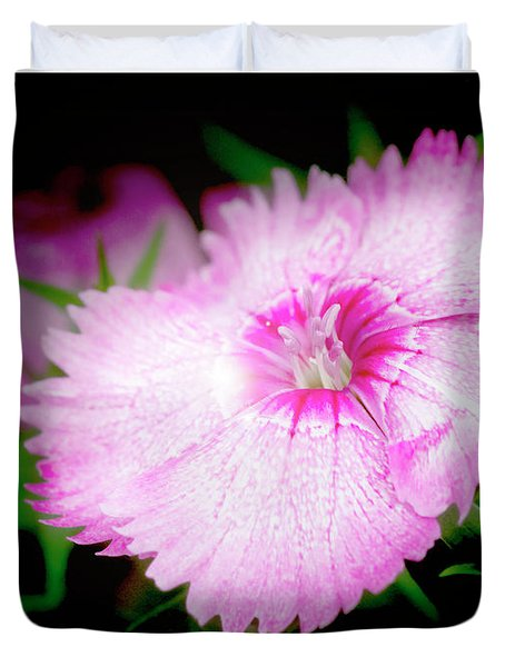 Dianthus Flower Duvet Cover