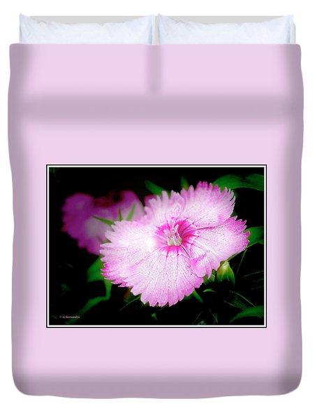 Dianthus Flower Duvet Cover