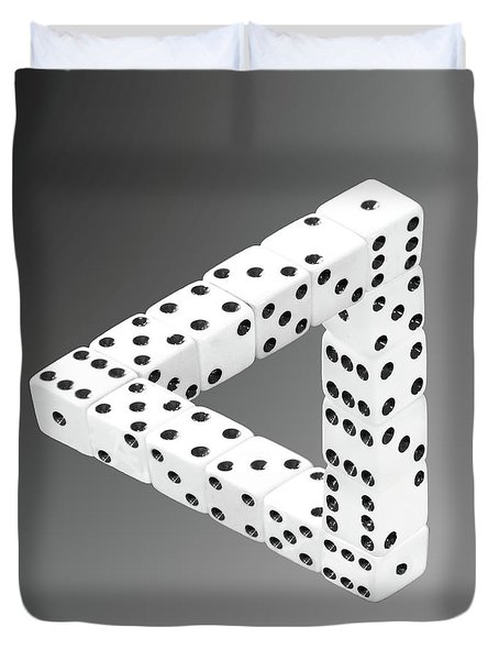 Dice Illusion Duvet Cover