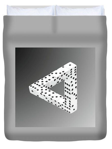 Dice Illusion Duvet Cover