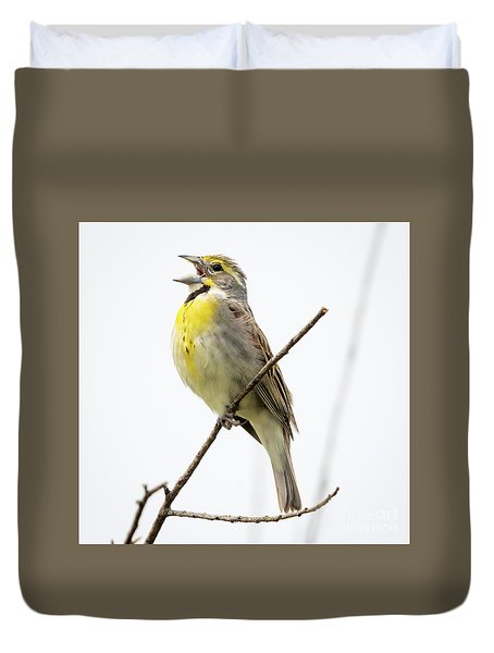Duvet Cover featuring the photograph Dickcissel  by Ricky L Jones