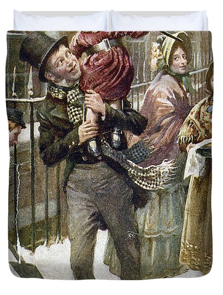 Dickens: A Christmas Carol Duvet Cover