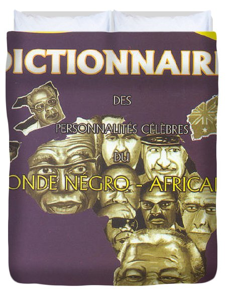 Duvet Cover featuring the painting Dictionary Of Negroafrican Celebrities 1 by Emmanuel Baliyanga