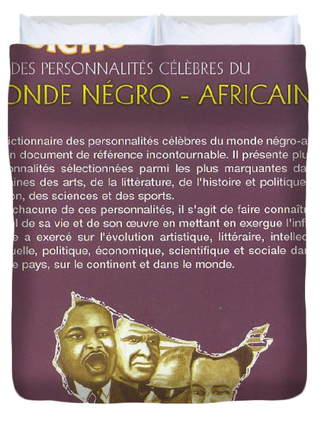 Duvet Cover featuring the painting Dictionary Of Negroafrican Celebrities 2 by Emmanuel Baliyanga