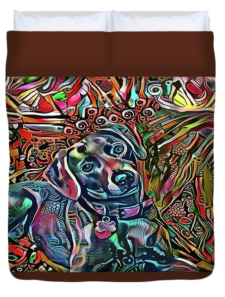 Did Somebody Say Treat? Blue Lacy Dog Duvet Cover