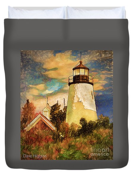 Dice Head ,castine, Maine Duvet Cover by Dave Higgins