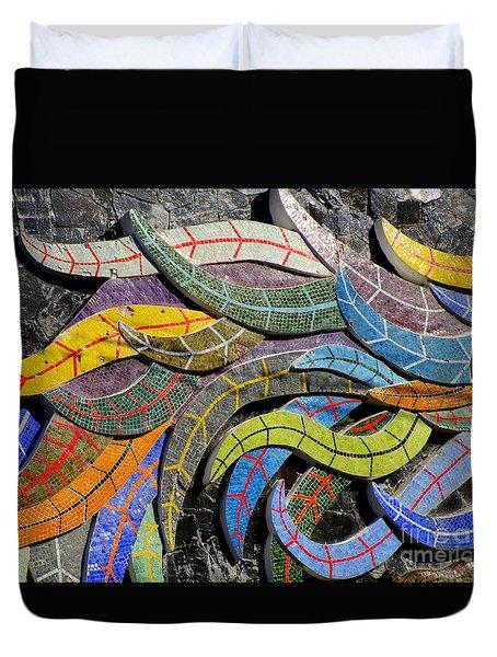 Diego Rivera Mural 6 Duvet Cover