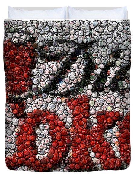 Diet Coke Bottle Cap Mosaic Duvet Cover