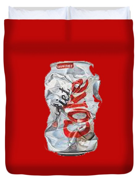 Diet Coke T-shirt Duvet Cover by Herb Strobino