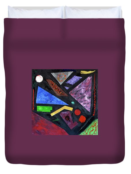 Duvet Cover featuring the painting Differences by Michael Lucarelli