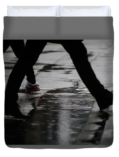 different Directions  Duvet Cover by Empty Wall
