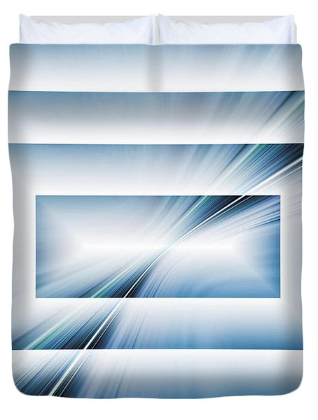 Duvet Cover featuring the digital art Diffraction by Tom Druin