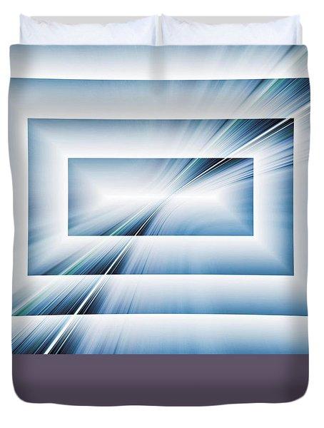 Diffraction Duvet Cover by Tom Druin