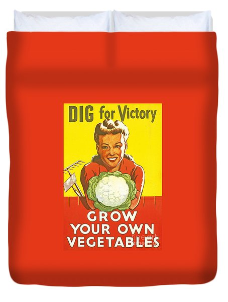 Dig For Victory Duvet Cover