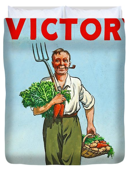 Dig On For Victory Duvet Cover