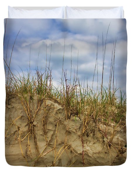 Digging In Deep In Sand Dunes Duvet Cover