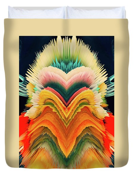Duvet Cover featuring the photograph Vivid Eruption by Colleen Taylor