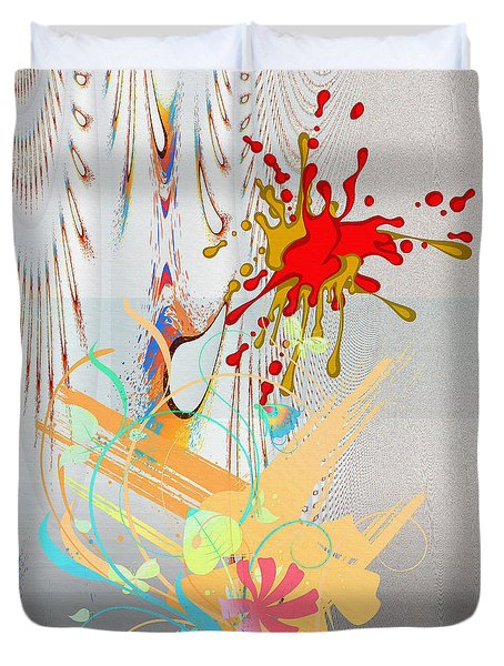 Digital Abstract No. 1 Duvet Cover