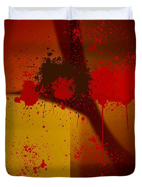 Digital Abstract No. 6 Duvet Cover by Robert Kernodle