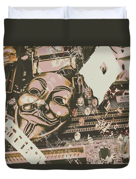 Digital Anonymous Collective Duvet Cover