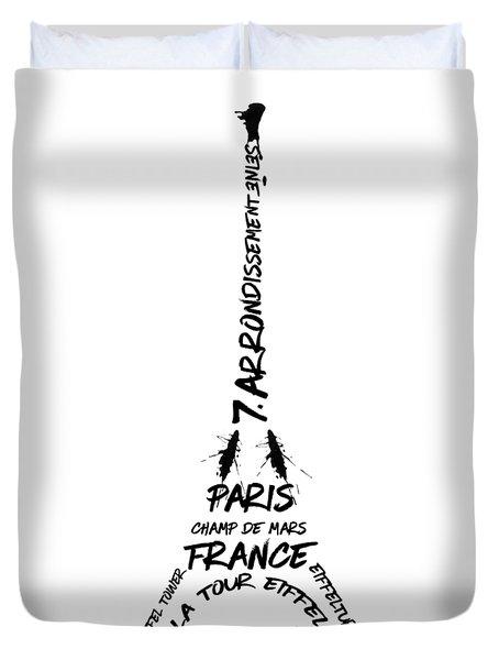 Digital-art Eiffel Tower Duvet Cover