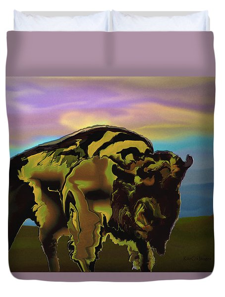 Digital Bison 2 Duvet Cover