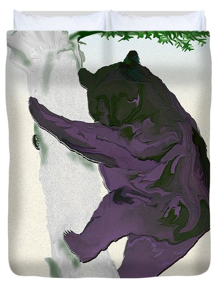Digital Black Bear Duvet Cover