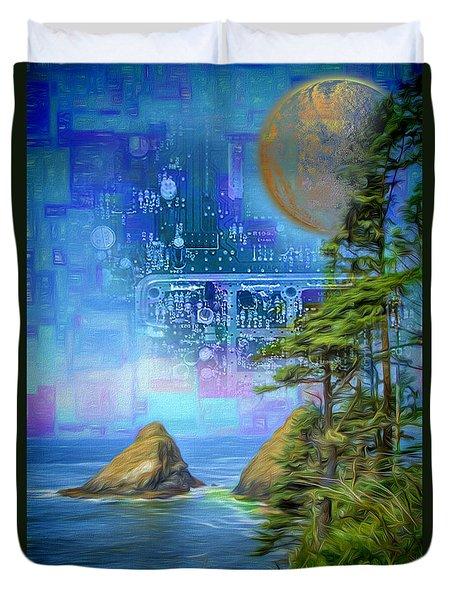 Digital Dream Duvet Cover
