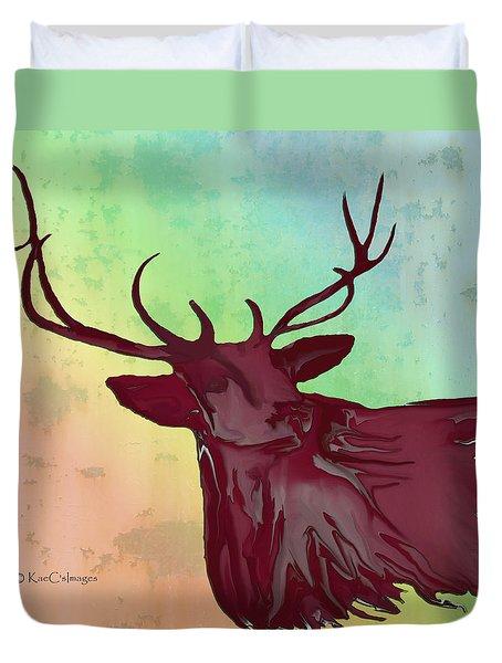 Digital Elk #1 Duvet Cover