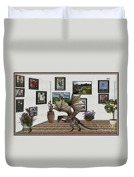 Digital Exhibition _ Dragon Duvet Cover by Pemaro