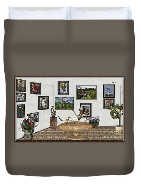 Digital Exhibition _ Relaxation In The Afterlife Duvet Cover