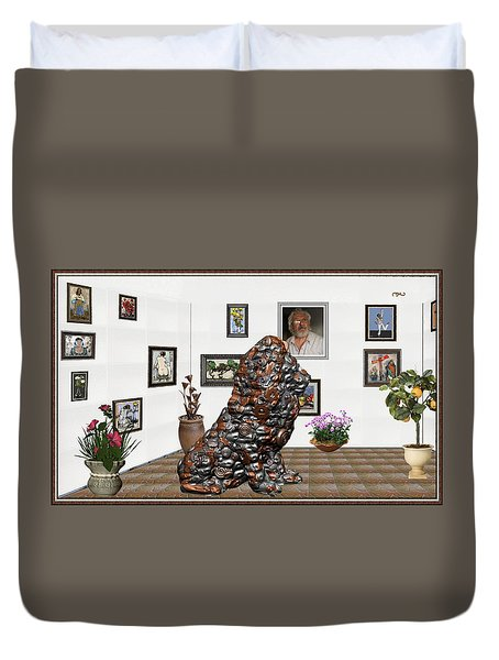 digital exhibition _Modern Statue of scrap Duvet Cover