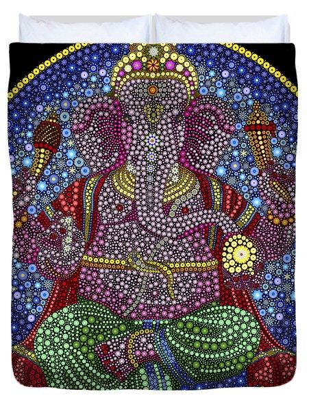 Digital Ganesha Duvet Cover