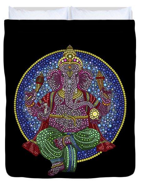 Digital Ganesha Duvet Cover by Tim Gainey