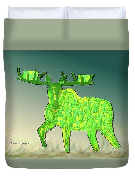 Digital Moose #2 Duvet Cover
