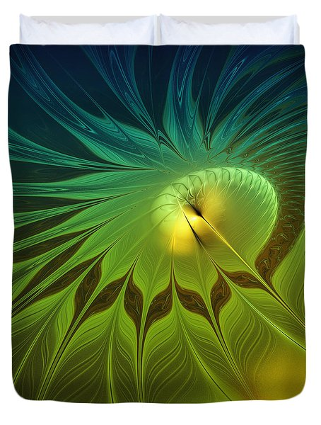 Digital Nature Duvet Cover