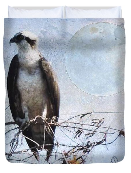 Digital Osprey Duvet Cover