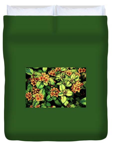 Digital Painting Quilted Garden Flowers 2563 Dp_2 Duvet Cover