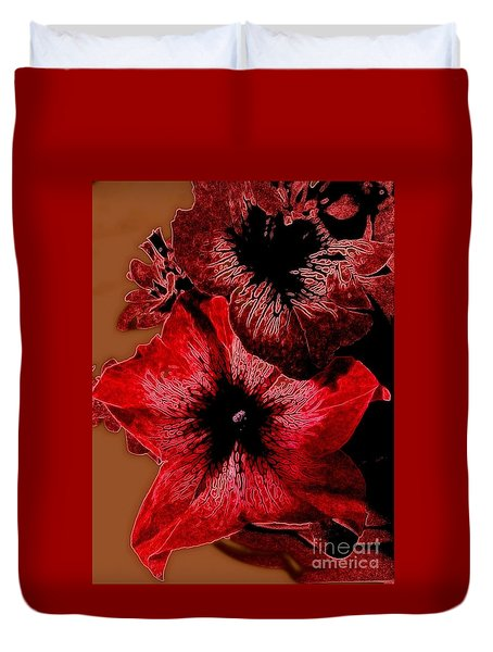 Digital Petunia Duvet Cover