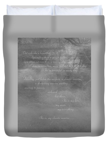 Digital Poem Duvet Cover