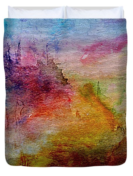 1a Abstract Expressionism Digital Painting Duvet Cover