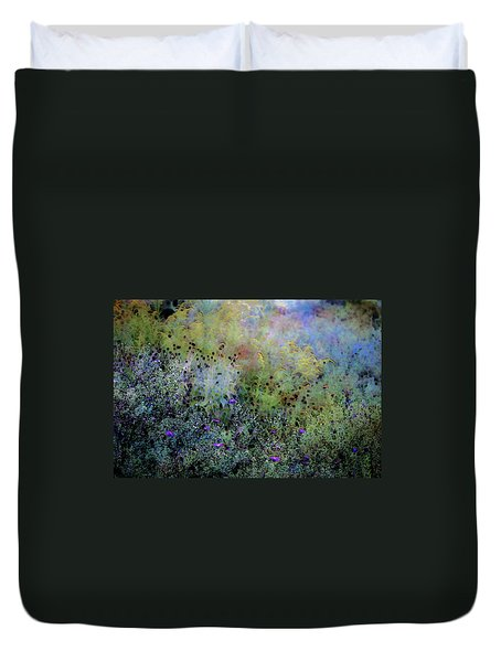 Digital Watercolor Field Of Wildflowers 4064 W_2 Duvet Cover