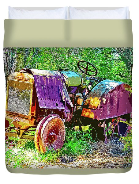 Dilapidated Tractor Duvet Cover