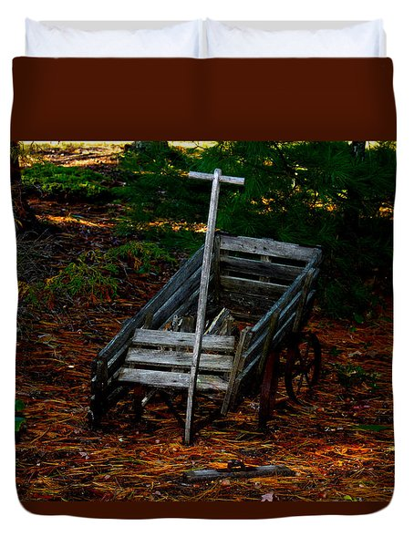 Dilapidated Wagon Duvet Cover by Robert Morin
