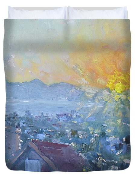 Dilesi In A Brand New Day  Duvet Cover