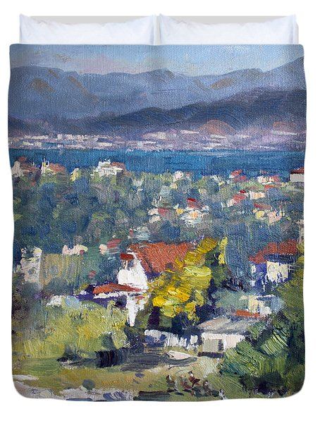 Dilesi Village Athens Duvet Cover