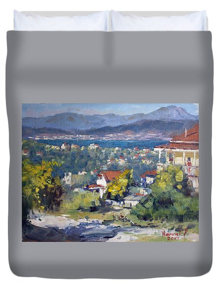Dilesi Village Athens Duvet Cover