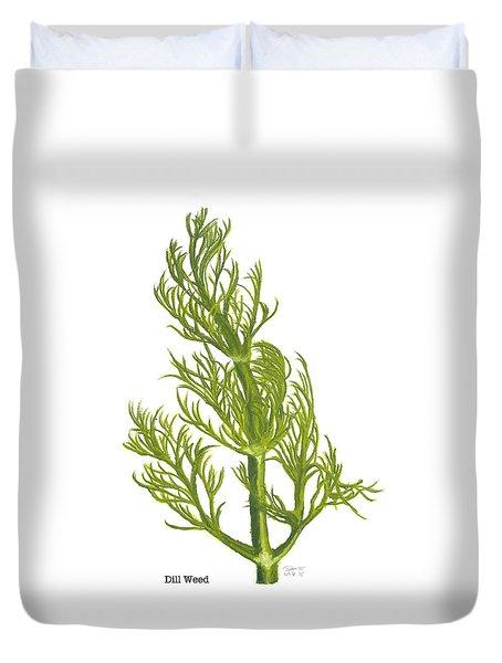 Dill Plant Duvet Cover