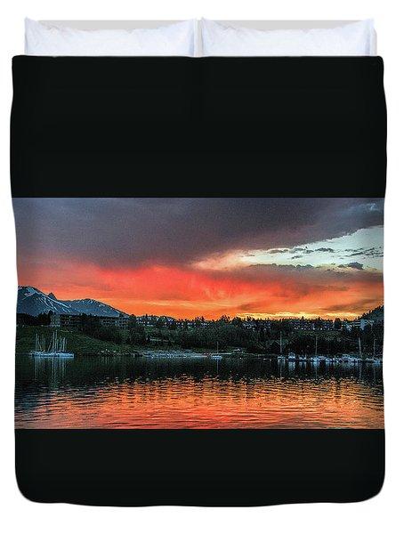Dillon Marina At Sunset Duvet Cover